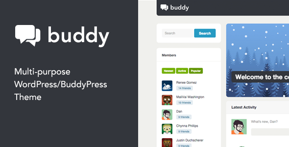 Buddy - Multi-Purpose WordPress -BuddyPress Theme