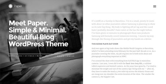Paper - Responsive WordPress Blog Theme