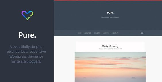 Pure - Responsive Blogging WordPress Theme