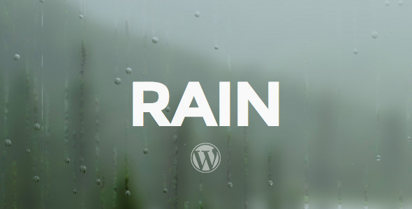 RAIN - Responsive WordPress Theme