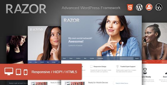 Razor - Cutting Edge WordPress Theme