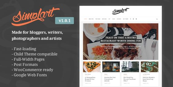 Simplart - Responsive WordPress Blog Theme