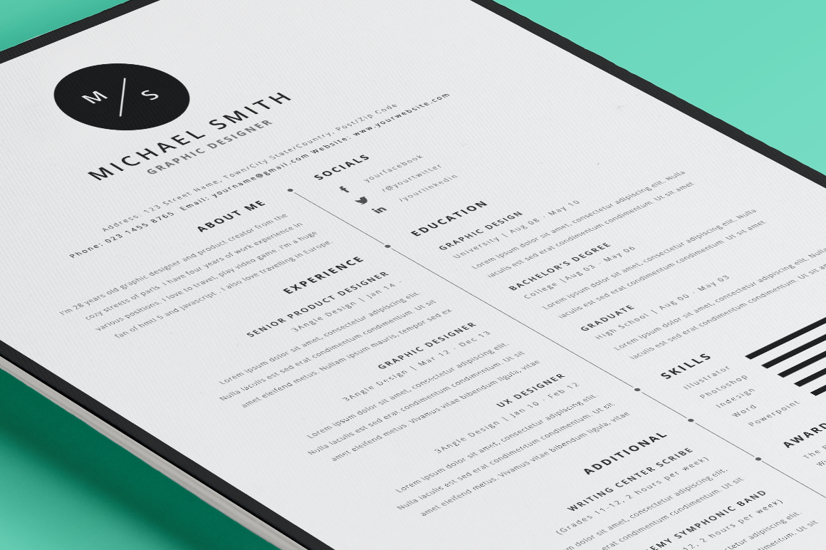 35 best resume templates of 2016 dzineflip for Resmue templates