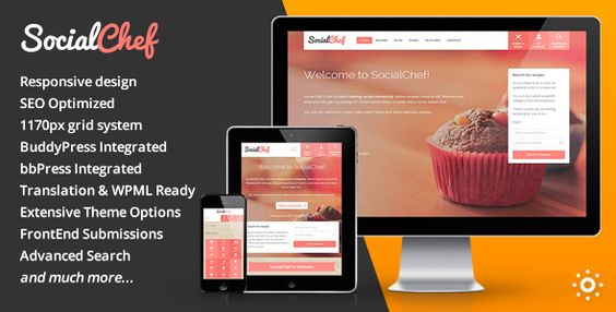 SocialChef - Social Recipe WordPress Theme