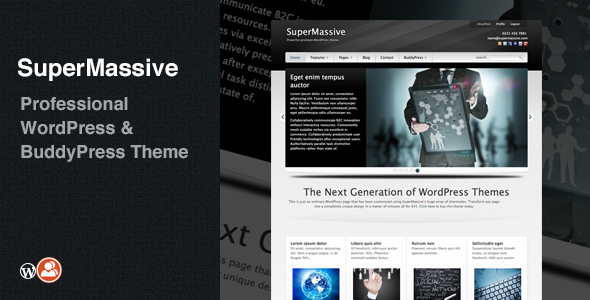 SuperMassive - Multi-Purpose WordPress - BuddyPress Theme