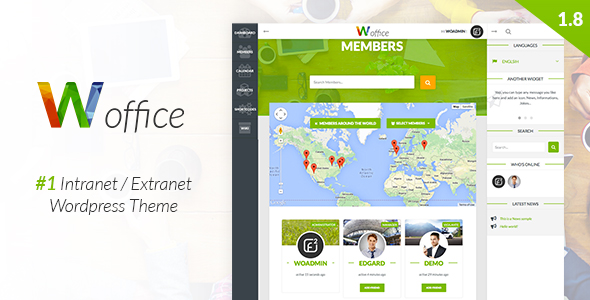 Woffice - Intranet - Extranet WordPress Theme