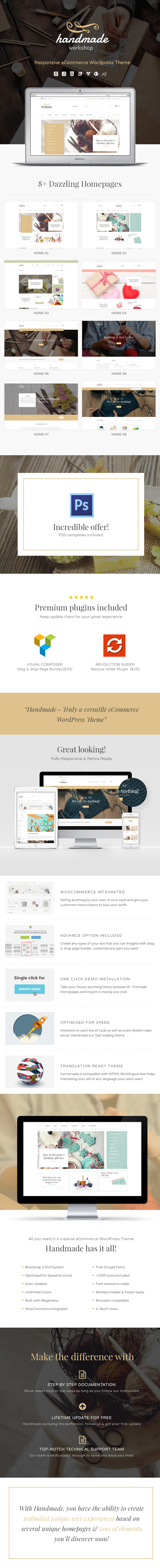 Handmade - Shop WordPress WooCommerce Theme