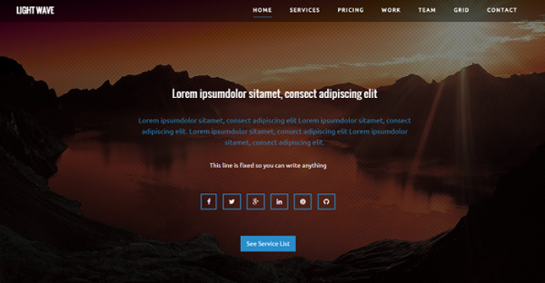 Light Wave – Free Bootstrap Landing Page Template