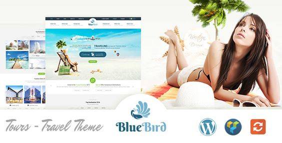 Blue Bird - Hotels, Tours, Travel WordPress Theme