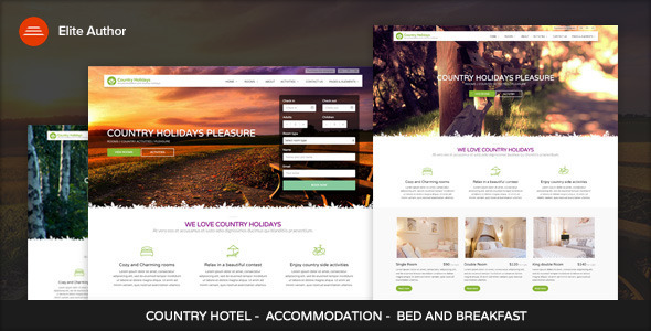 CountryHolidays - WordPress Country Hotel and Bed