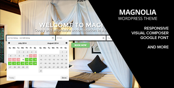 HOTEL MAGNOLIA WordPress Theme