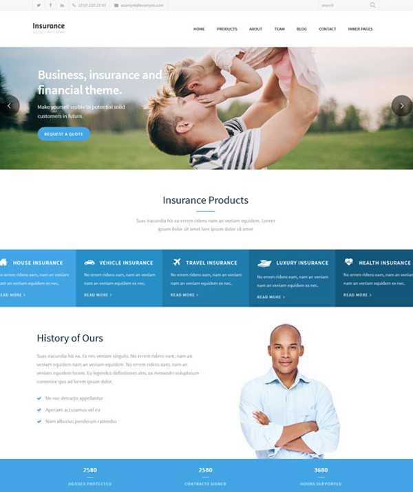 Insurance Company Responsive WordPress Themes
