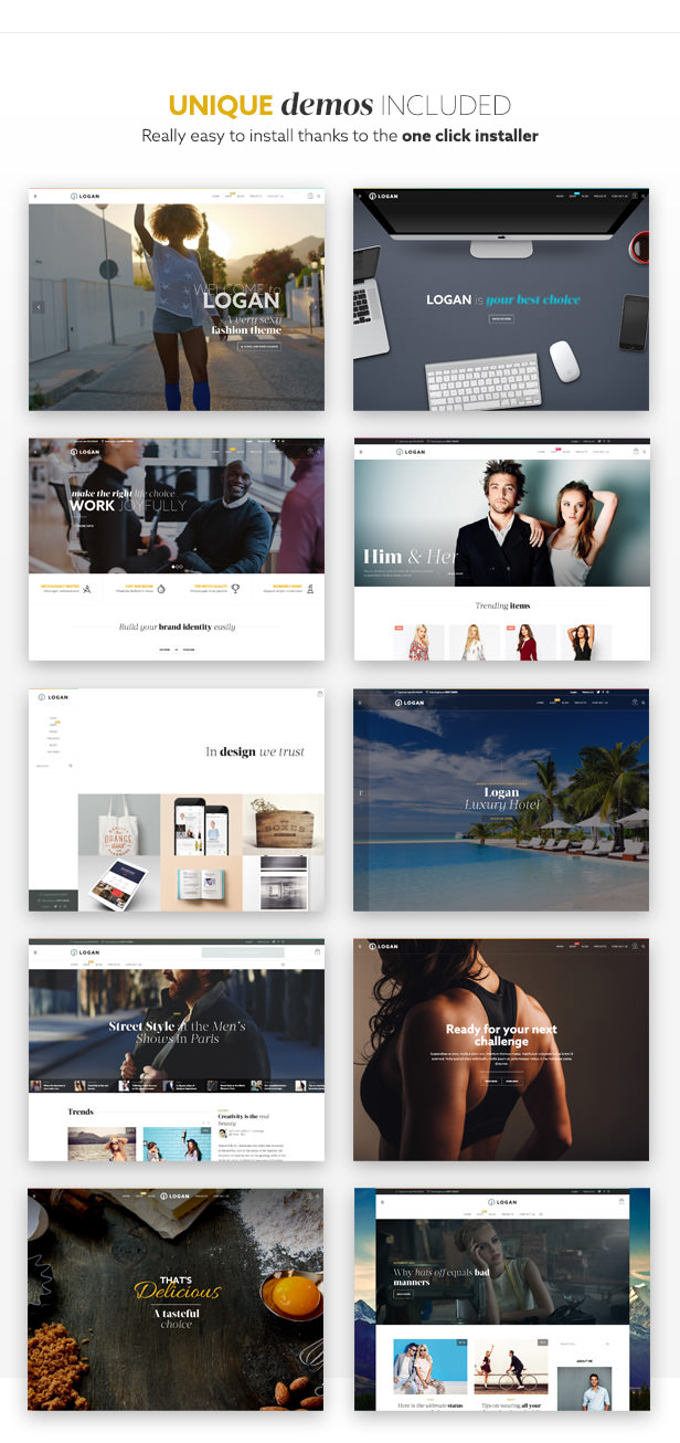 Logan - Elegant Fashion Multiuse WooCommerce Shop Theme