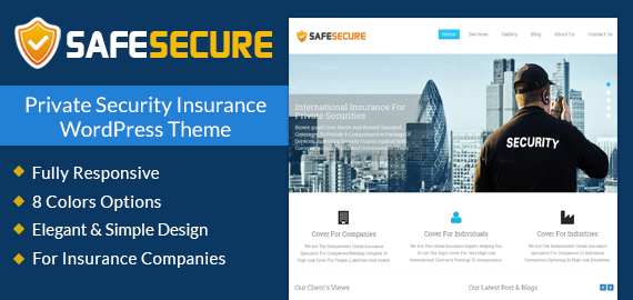 Private Security Insurance WordPress Theme