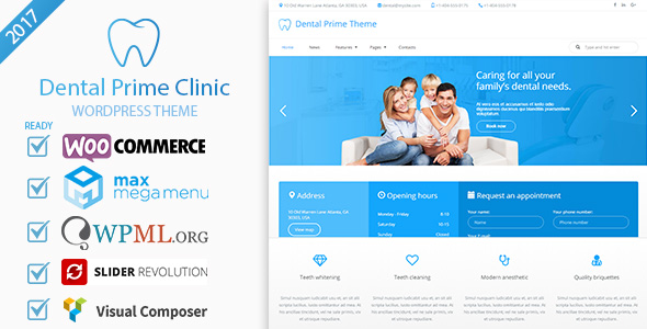 Dental Prime- Medical Health Care & Dentist Center, Multi-Purpose Responsive WordPress Theme