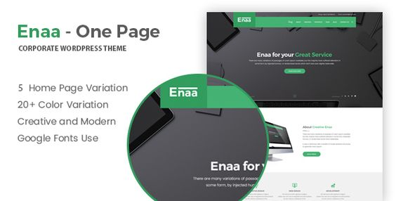Enaa - One Page Corporate WordPress Theme