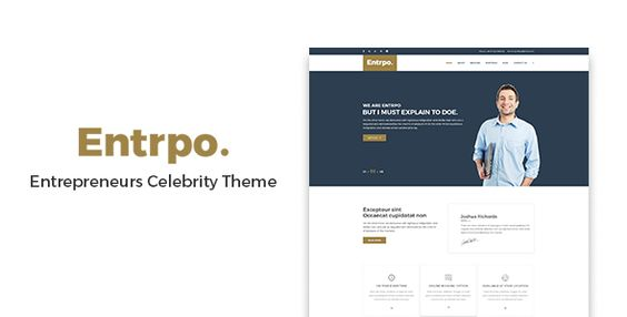 Entrpo - Entrepreneurs Celebrity WrodPress Theme