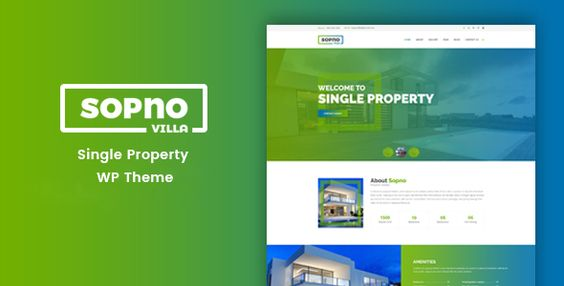 Sopnovilla – Single Property WordPress Theme