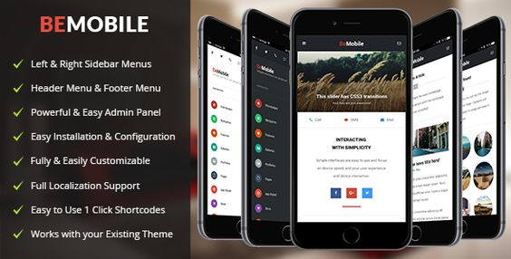 BeMobile - Mobile and Tablet Responsive WordPress Theme