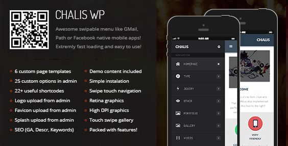 Chalis Mobile Retina - WordPress Version