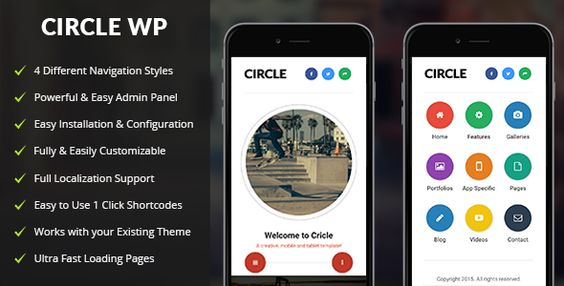 Circle - Mobile WordPress Theme
