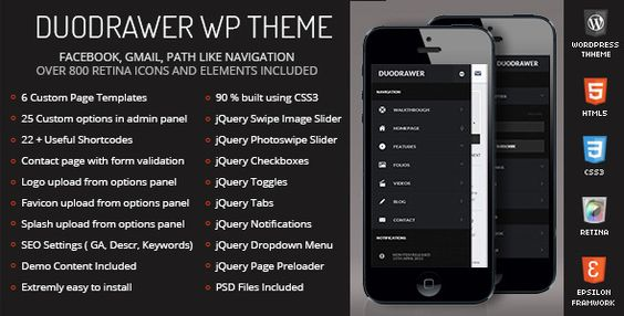 DuoDrawer Mobile Retina - WordPress Version