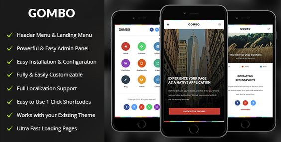 Gombo - Mobile WordPress Theme