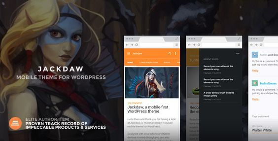 Jackdaw - WordPress Mobile Theme