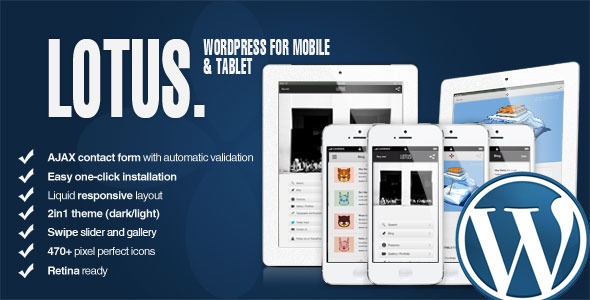 Lotus - Mobile and Tablet - WordPress & Retina
