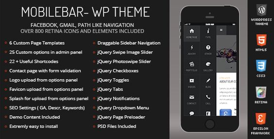 Mobilebar Mobile Retina - WordPress Version