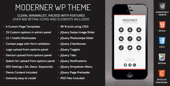 Moderner Mobile Retina - WordPress Version