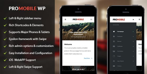 ProMobile - Mobile and Tablet Responsive WordPress Theme