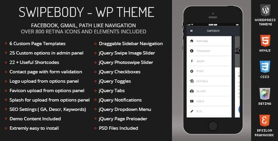 Swipebody Mobile Retina - WordPress Version