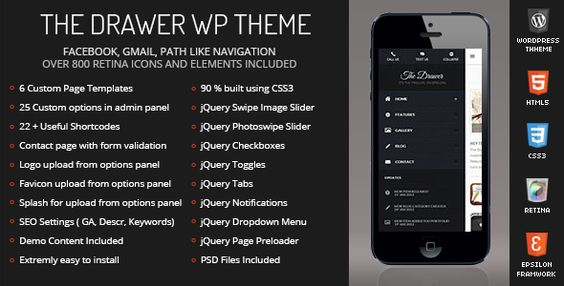 The Drawer Mobile Retina - WordPress Version