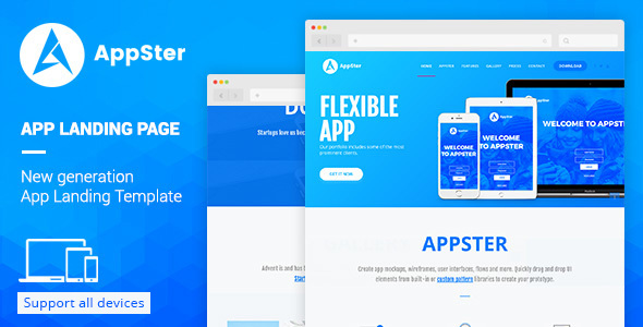 Appster - Landing Page Template Muse Template