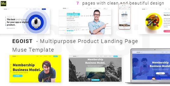 EGOIST - Multipurpose Product Landing Page Muse Template