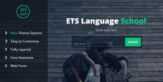 ETS Language School Landing Page Muse Template