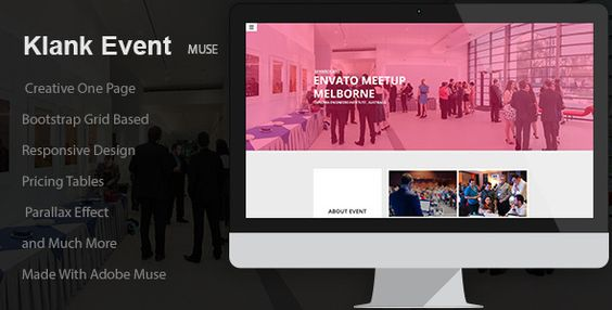 Klank Event - Event Landing Page Muse Template