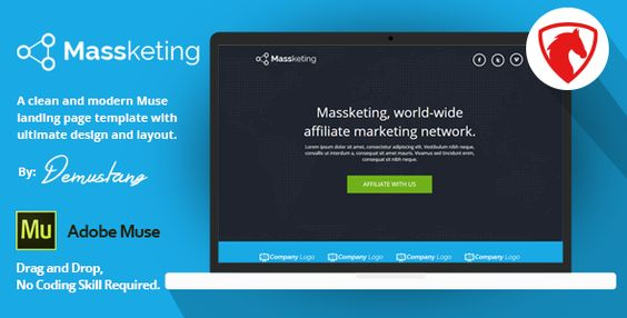 Massketing Muse Landing Page Template