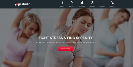 Yoga - Landing Page Muse Template