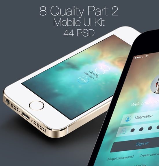 8 Quality Part 2 Mobile UI Kit