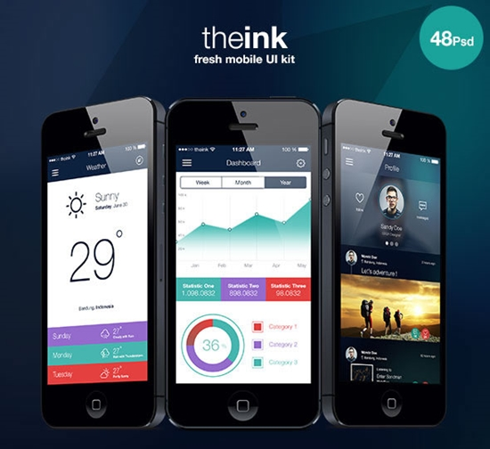 Theink Mobile UI Kit