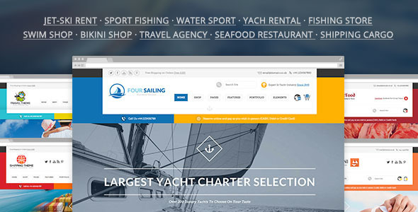 456Sailing – eCommerce & Corporate Theme