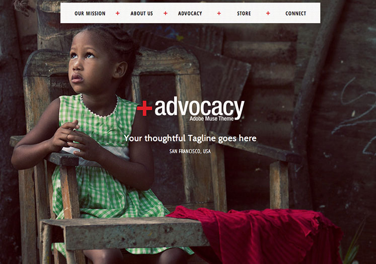 Advocacy - Adobe Muse NonProfit Theme