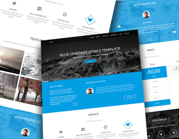 BLUE – Business Template