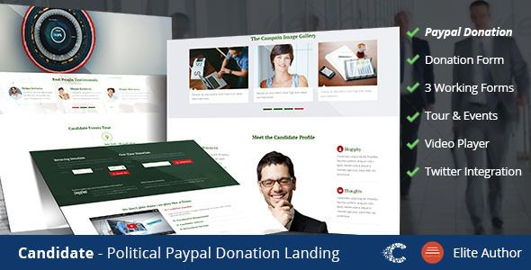 Candidate Political Donation Landing