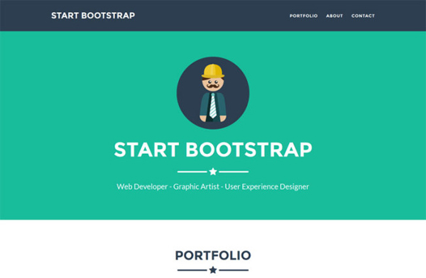 Freelancer – one page Bootstrap portfolio theme