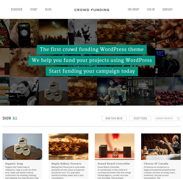 Fundify - Crowdfunding WordPress App Theme