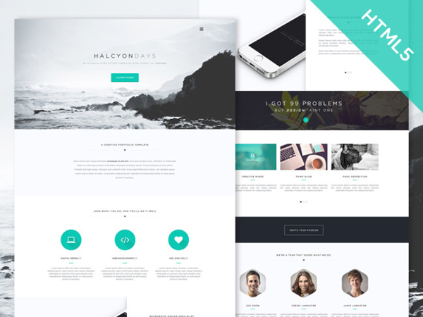 Halcyon Days – One Page Website Template