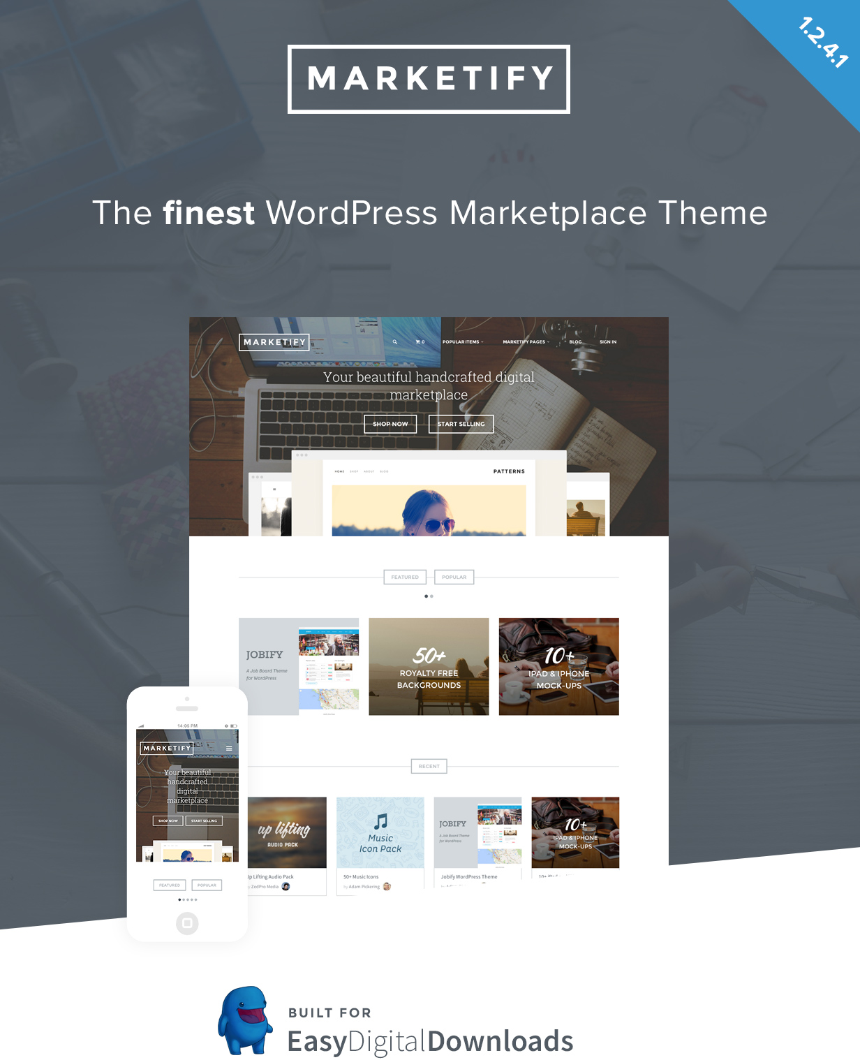Marketplace WordPress Theme - Marketify